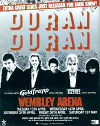 Wembley Arena in London wikipedia duran duran concert poster
