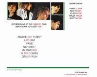 Duran Duran Amsterdam 81 paradisco club wikipedia discogs