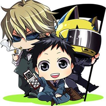 File:SD Mikado, Shizuo, and Celty 2.jpg