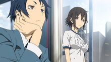 Durararax2 shou-02-aoba-kururi-raira academy-gym uniform-first meeting-bored-quiet-shy