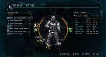 Dust 514 - Fitting a militia dropsuit