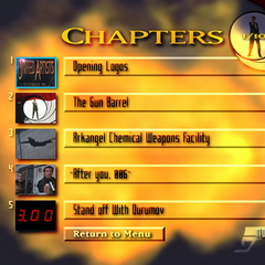 The chapter selection menu