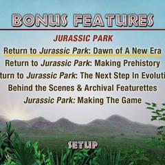 <i>Jurassic Park</i> Bonus Disc 1 Main Menu