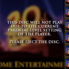 20th Century Fox DVD Parental Screen