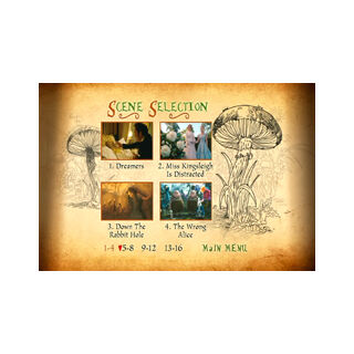 Tim Burton's Alice in Wonderland - Scene Selection Menu
