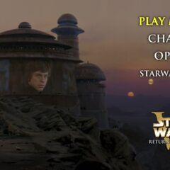 Star Wars: Return of the Jedi - Tatooine Main Menu Screenshot
