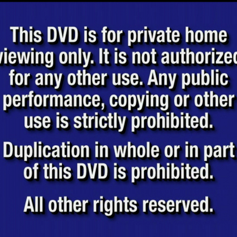 DVD Anti-piracy warning notice