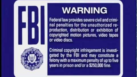 FBI Warnings and Walt Disney Home Entertainment (2001, 5
