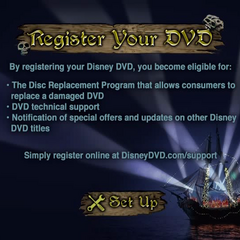 DVD registration menu