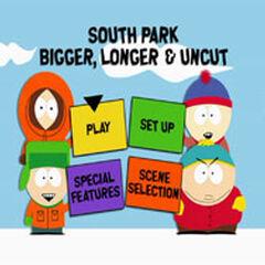 South Park Bigger, Longer & Uncut - Main Menu