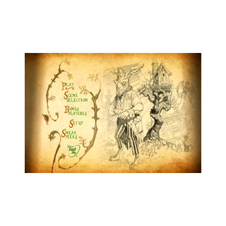 Tim Burton's Alice in Wonderland - Main Menu