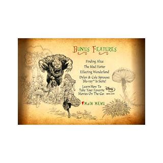 Tim Burton's Alice in Wonderland - Bonus Features Menu
