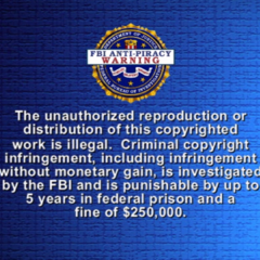 FBI Anti-piracy english warning