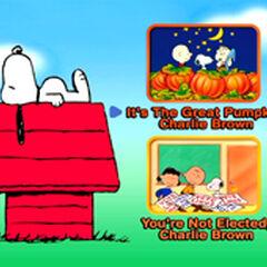 It's The Great Pumpkin, Charlie Brown - Main Menu