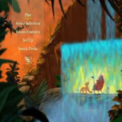 The Lion King - Main Menu Screenshot: Jungle