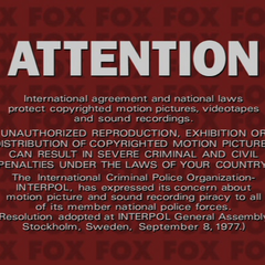 Attention (English piracy warning)