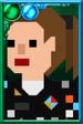 """Dorothy """"Ace"""" McShane Pixelated Ponytail Portrait"""