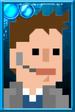 Fan Jack Pixelated Coat Portrait