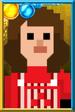 Sarah Jane Smith Pixelated Overalls Portrait