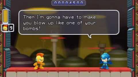 V.G.W. PSP - Mega Man Powered Up (BombMan Banter)