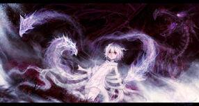 Anime girl and shadow dragon by shadowwardragon-d62jp83