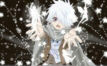 Fairies anime anime boys scarf white hair purple eyes tegami bachi lag seeing 1440x900 wallpaper www.wallpaperfo.com 42