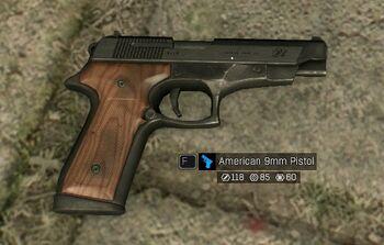 Amerykański 9mm Pistolet