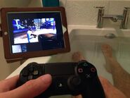 Facetiming PS4 To Play it in the Bathtub