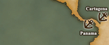 Isthmus of Panama - Port Map 1 (UW5)