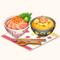 Seafood Oyako & Crab Omelette Bowl (TMR)