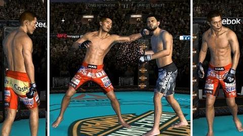"""UFC mobile Dong Hyun """"stun gun"""" Kim LE showcase (MOD - shorts, haircut, skintone, tattoo) UFC모바일 김동현"""