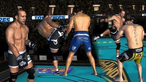 UFC mobile Mark Coleman IE showcase (MOD patch - shorts, knee guard, shoes, hair, body) UFC모바일
