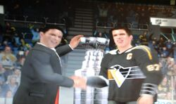 Sidney Crosby Penguins retro stanley cup NHL 09