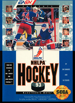 NHLPA Hockey '93 Coverart