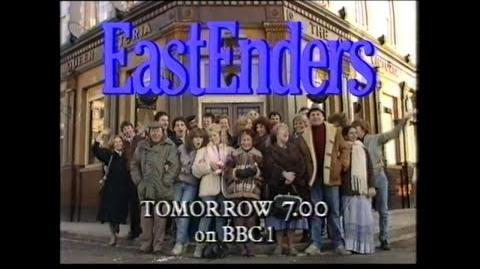 18 February 1985 BBC1 - EastEnders trail & new BBC1 COW ident