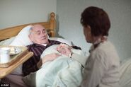 Dot visiting Jim Branning in Carehome