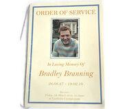 Bradley Branning Funeral Booklet (2010)