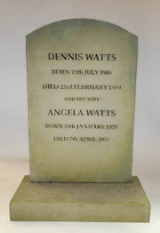 Den Watts and Angela Watts Headstone
