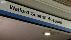 Walford General Hospital sign
