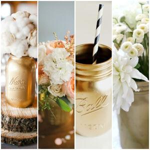Gold-mason-jars- -glitterweddings.com