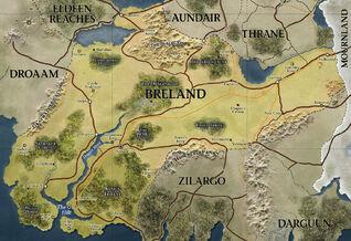 D&D - 4th Edition - Eberron Map Breland