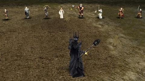 Sauron vs Elven heroes