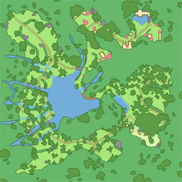 map of Rainbowfall Forest