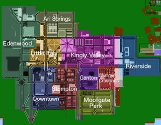 Eden City Districts