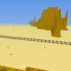 A rail way in the desert