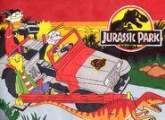 Jurassic ED ED EDD N EDDY driving the Jurassic Park Jeep