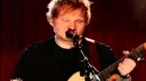 Ed Sheeran performing The A Team Don't on the iHeartRadio Music Awards