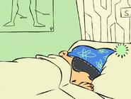 Edd Sleeping Wearing a Ski Hat