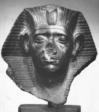 Bust of Sesostris III, 12th Dynasty, Gallatin Collection