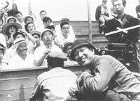 Kurosawa & Shimura filming Ikiru